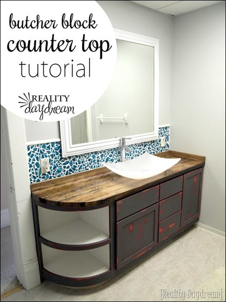 DIY Butcher Block Counter Tutorial