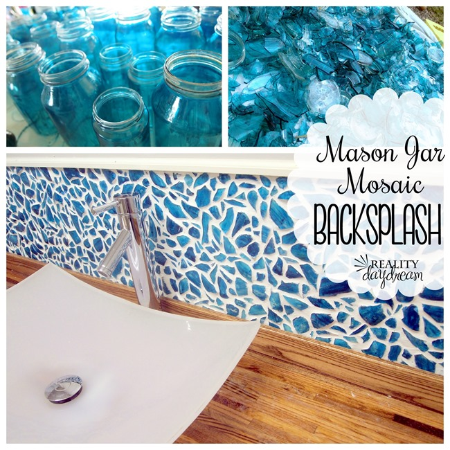 mason jar mosaic backsplash reality daydream