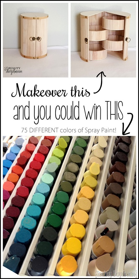 Makeover an unfinished trinket box, and you could win 75 cans of spray paint! (different colors!) {Reality Daydream} (2)