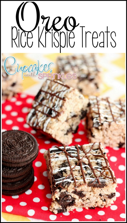 Oreo Rice Krispie Treats!