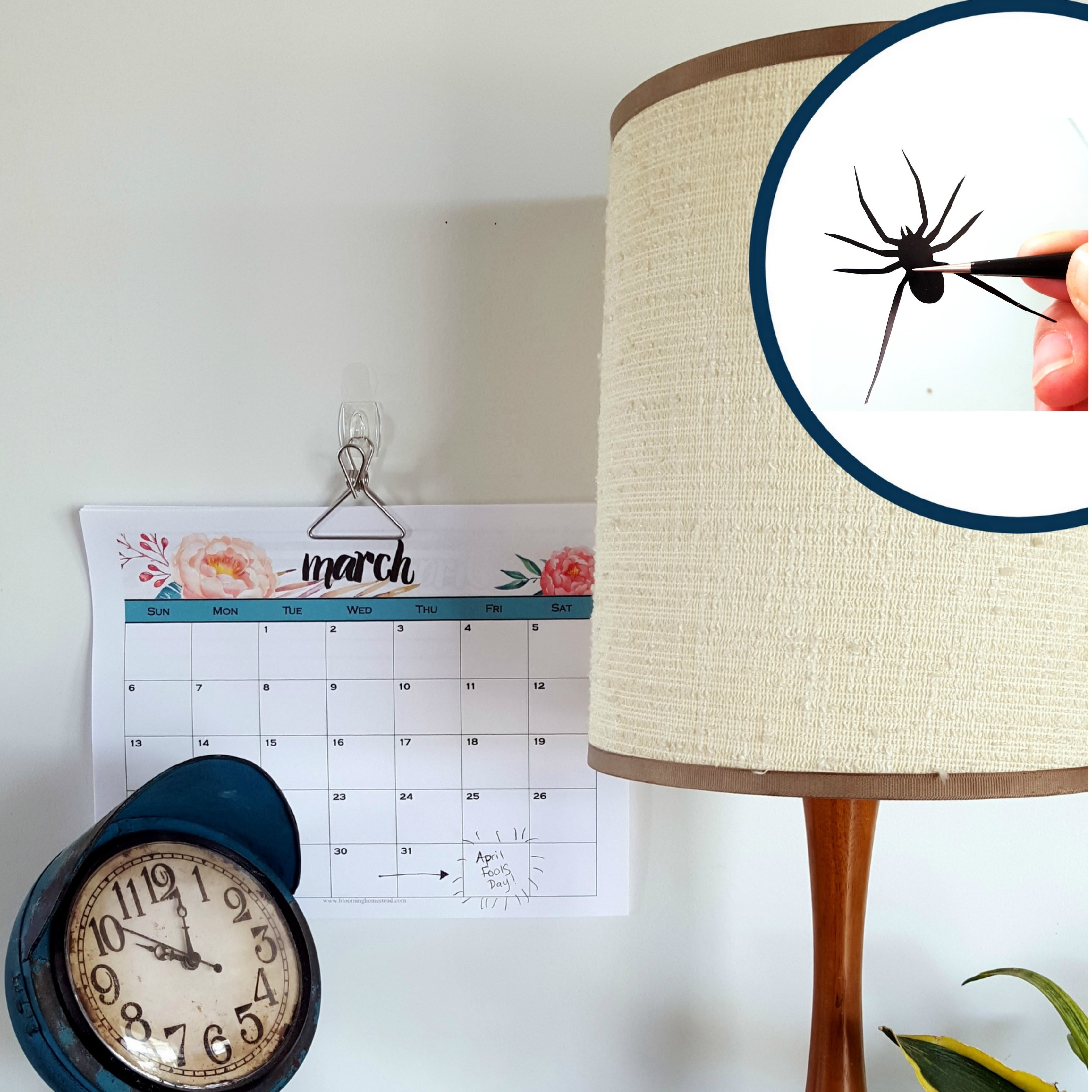 Lampshade spider april fools idea reality daydream mozeypictures Image collections