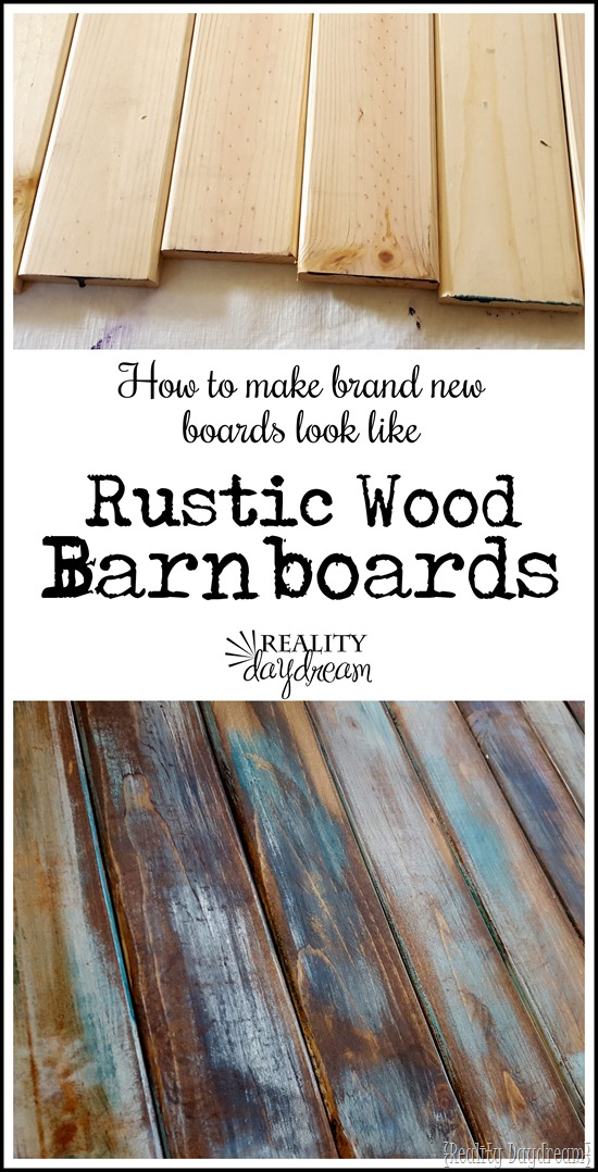 Here's a super simple technique for making brand new wood look like old, distressed wood barn doors!