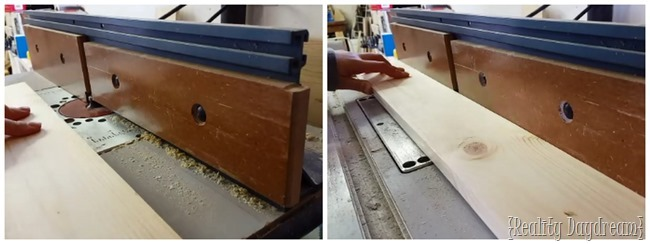 Smooth out the crisp edges of your new wood with a table sander, or just use a sheet of sandpaper for this easy step.