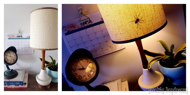 Use a sticky vinyl spider and slap it on the inside of a lampshade! {Reality Daydream}