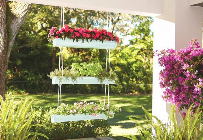 Hanging Gutter Planter idea