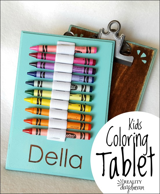 Kids travel crayon activity tablet with crayons and paper {Reality Daydream}