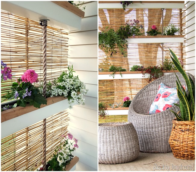 Make a vertical planter using gutters and rope! {Reality Daydream}