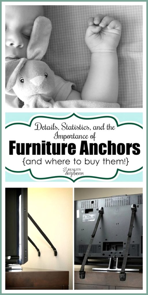 Furniture anchors are a simple way to SAVE A LIFE! {Reality Daydream}