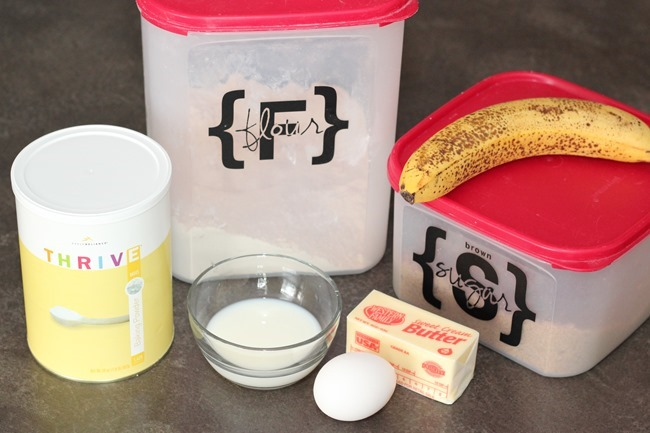 Banana Mug Cake Ingredients