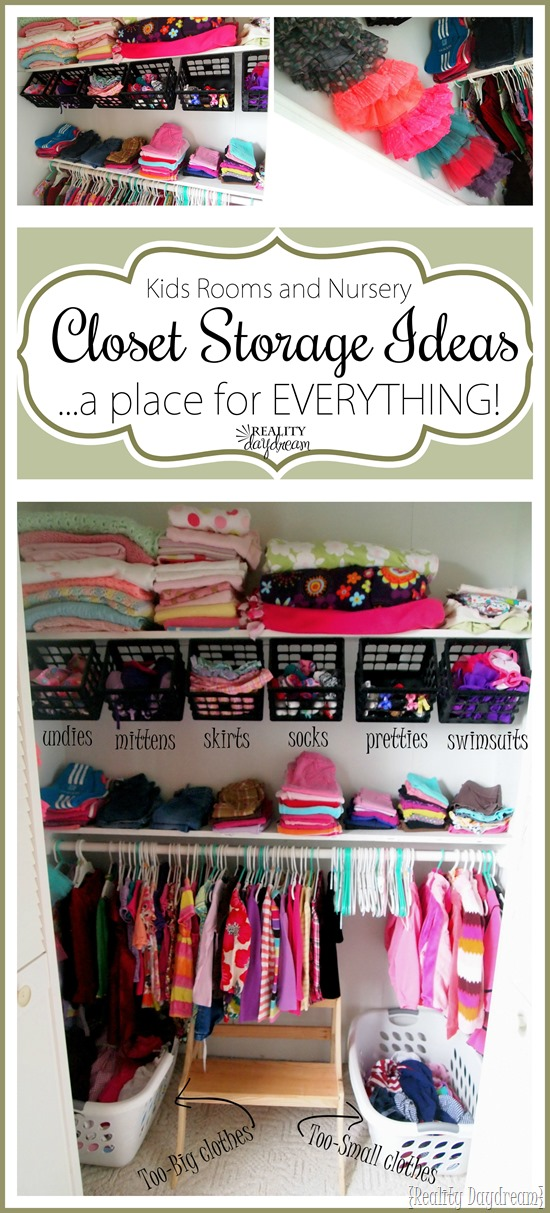 Brilliant storage and organization ideas for kids closets and nursery closets! {Reality Daydream}