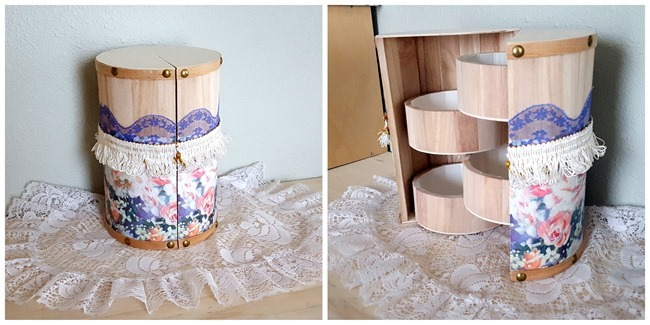 How I made over my unfinished wooden trinket box! {Reality Daydream}