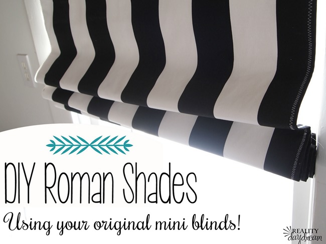 How to make Roman Shades using your existing mini-blinds... brilliant! {Reality Daydream}