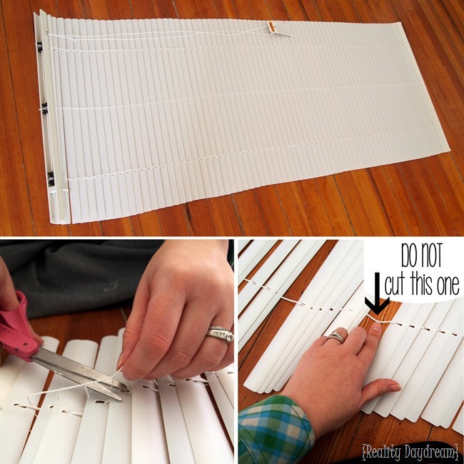 How to make your own Roman Shades using Mini-blinds!