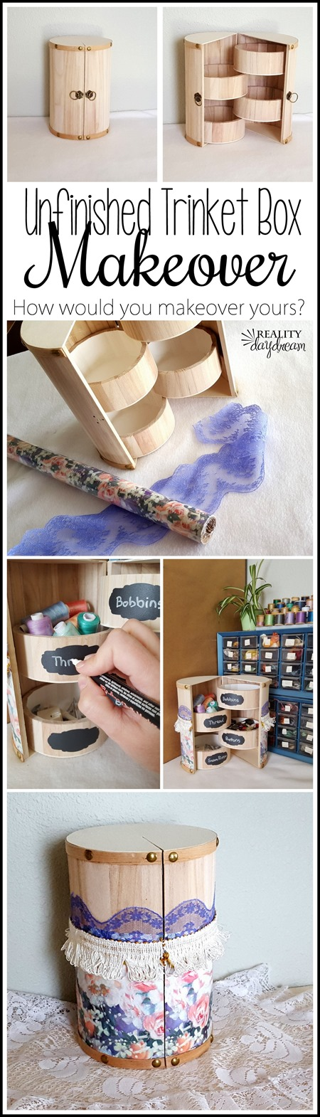 How would YOU makeover this cute Unfinished Wooden Trinket Box! #organization {Reality Daydream}