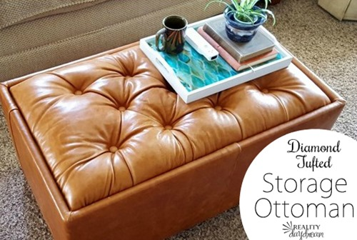 Leather Upholstered Storage Ottoman {Reality Daydream}