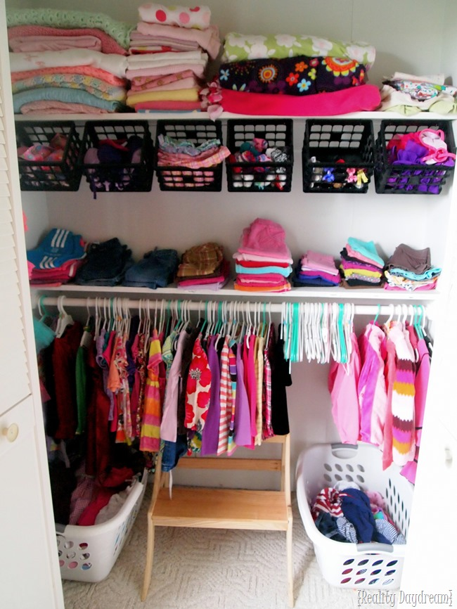 Little girls' closet organization ideas {Reality Daydream}