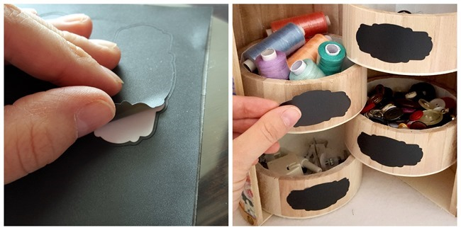 Makeover this unfinished wooden trinket box, and add some cute chalkboard labels! #organization {Reality Daydream}