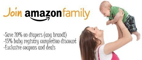 Sign up for Amazon Family and get HUGE discount on diapers!!