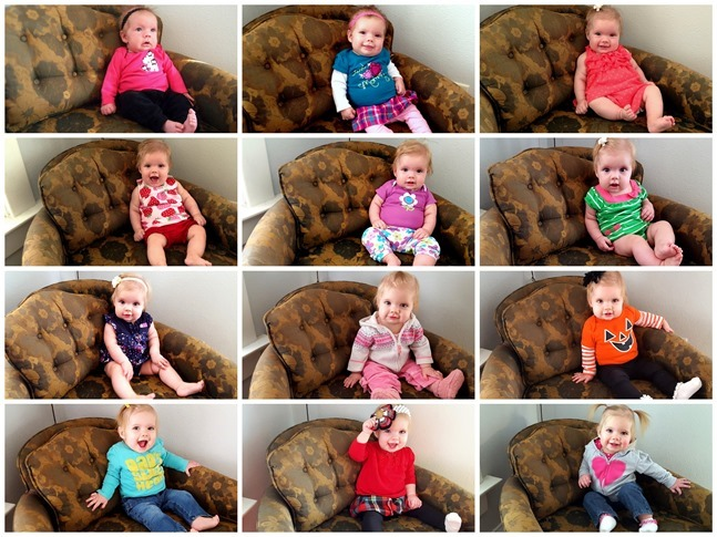Take a picture of your baby in the same chair every month for the first year! {Reality Daydream}
