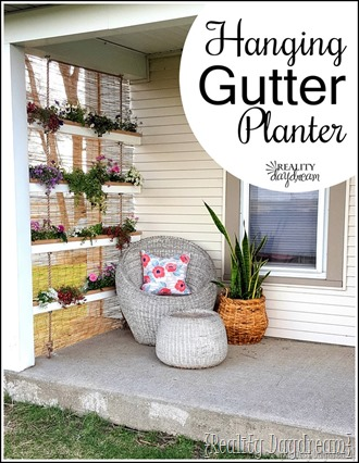 Vertical Hanging Gutter Planter {Reality Daydream}