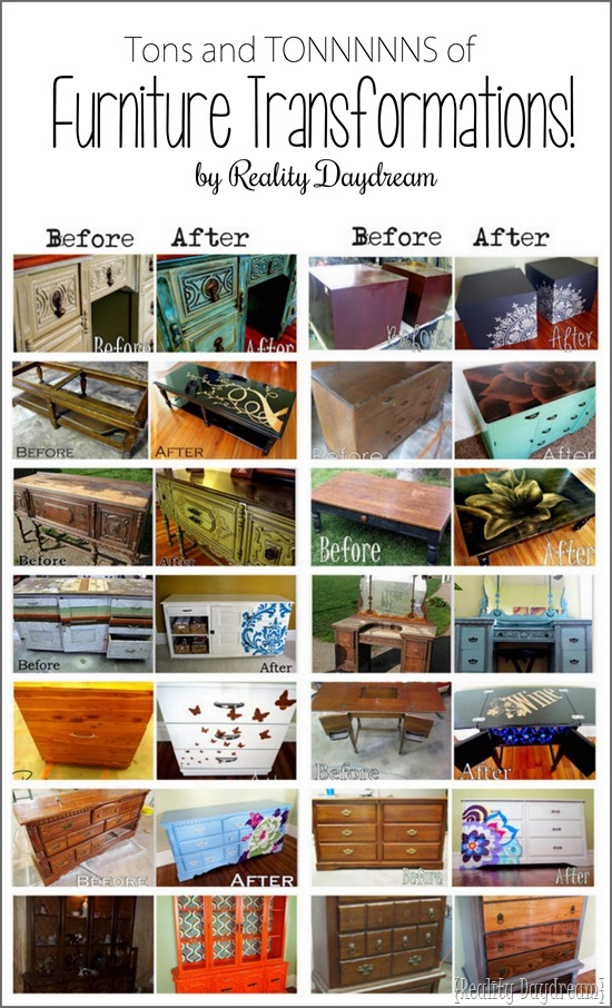 A TON of inspiring Before and After Furniture Transformations - by Reality Daydream