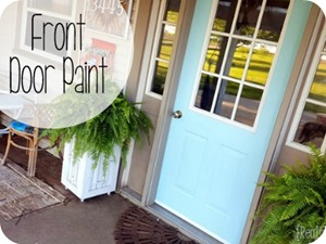 Aqua Front Door Paint {Reality Daydream}
