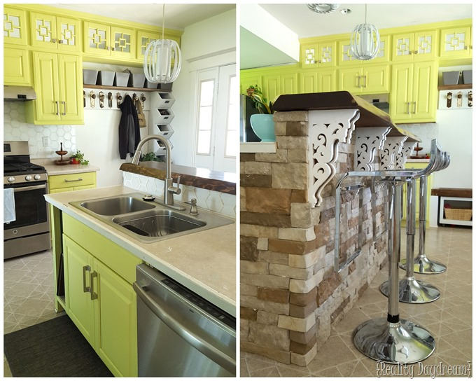 Be BOLD with your cabinets! White is so boring! {Reality Daydream}