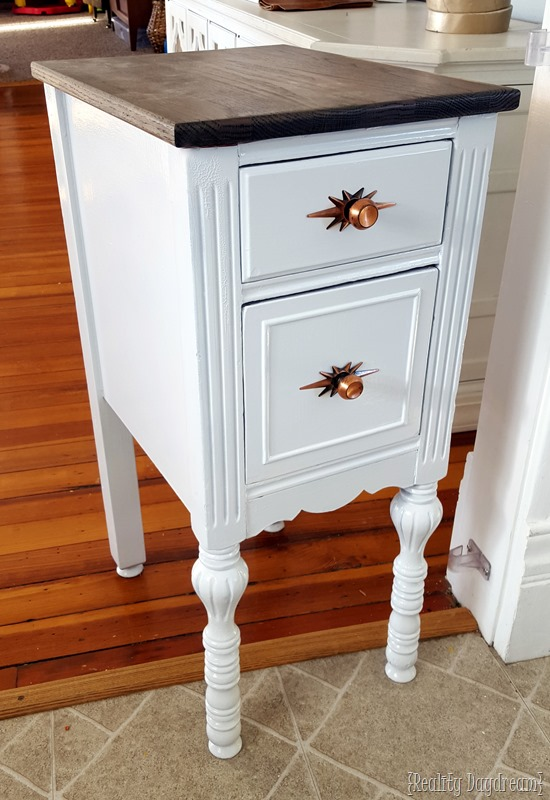 Chop a desk in half for TWO IDENTICAL NIGHT STANDS! {Reality Daydream}