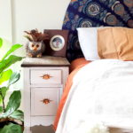 Chop a desk in half for TWO IDENTICAL NIGHT STANDS! Such a cute and unique idea! {Reality Daydream}