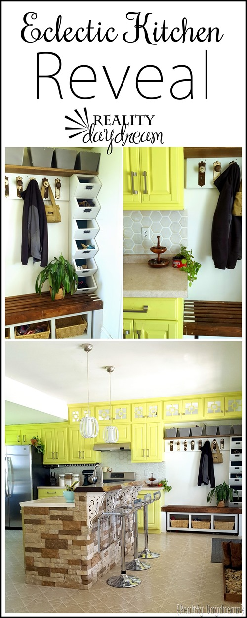Eclectic kitchen makeover... with SO many DIY projects and tutorials! {Reality Daydream}