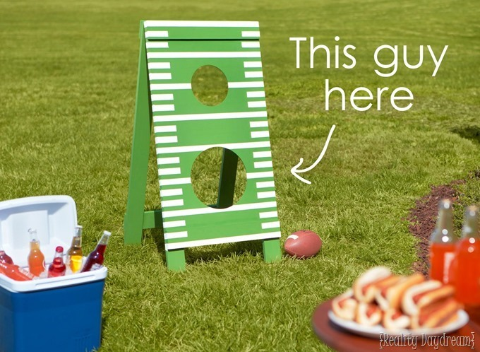 Home Depot A-Frame 'Football Toss' Yard Game {Reality Daydream}
