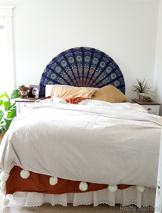 Master Bedroom Transformation by Reality Daydream #boho #eclectic #peacock