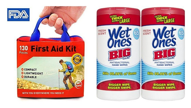 Must-haves for camping with kids and babies - First Aid Kit and Wet Ones