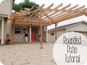 Rounded Patio and Pergola { Reality Daydream }