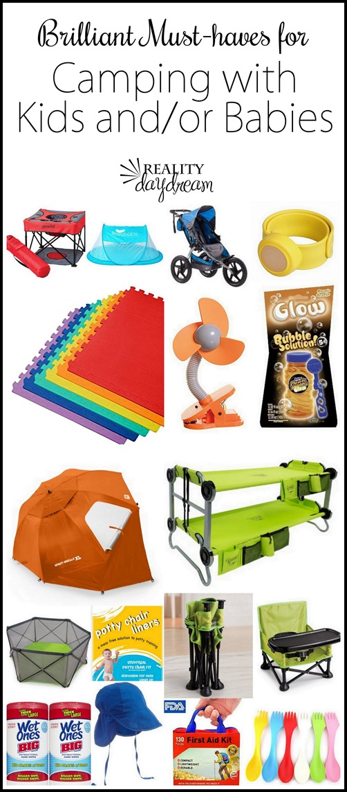 SUCH good things to remember to pack when camping with littles! {Reality Daydream} #kids #babies #musthaves #tentcamping