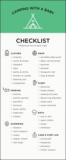 Ultimate Checklist for Camping with a Baby