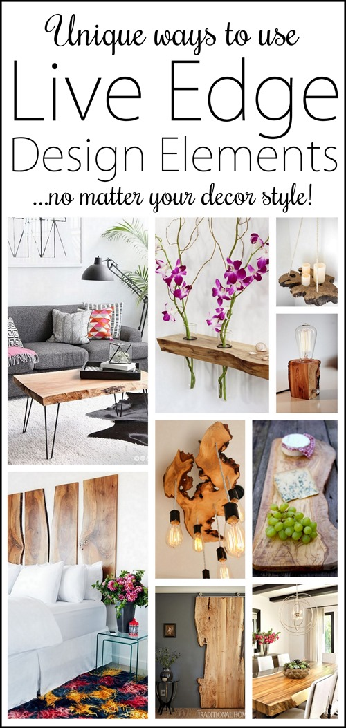 Beautiful and unique ways to incorporate live edge elements into your decor! #wood {Reality Daydream}
