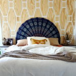 Geometric Pattern Plywood Accent Wall
