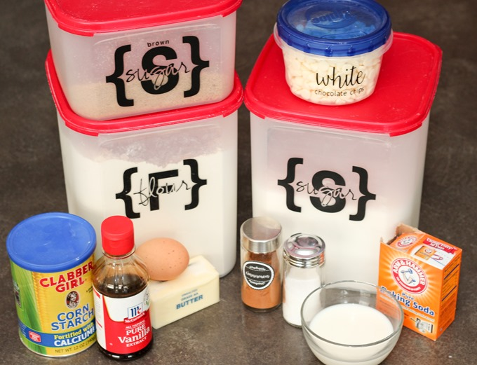 Ingredients for Churro Ice Cream Sandwiches