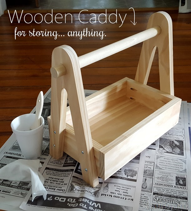 Simple building plans for this veritile Wooden Caddy! SO many options! {Reality Daydream}