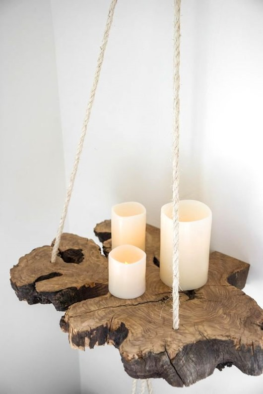 So many awesome ways to incorporate live edge elements into interior design!!