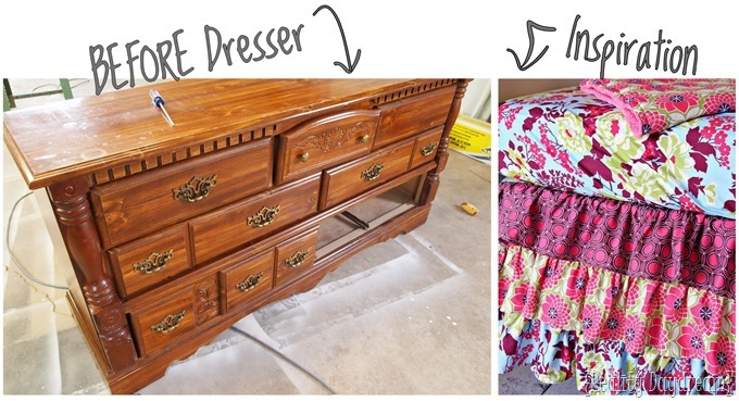 AMAZING dresser makeover - using a projecter to map out the painting {Reality Daydream}