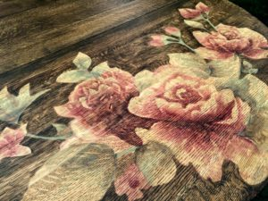Artwork on furniture using wood stain {Reality Daydream}
