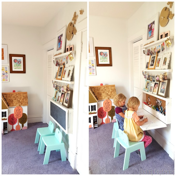 Build your own Children's Secretary Desk (or Murphy Table) with this awesome tutorial! {Reality Daydream}