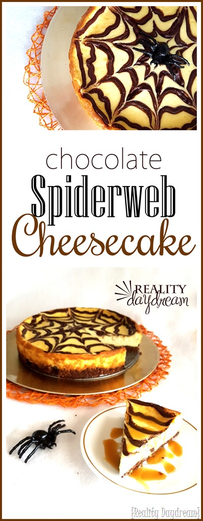 Chocolate Spider Webb Cheesecake... perfect Halloween Dessert! (and easier than you might think!) - Reality Daydream}