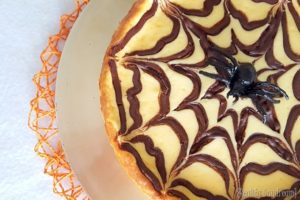 Chocolate Spider Web Cheesecake