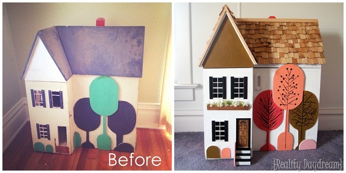 Heirloom Dollhouse Makeover {Reality Daydream}