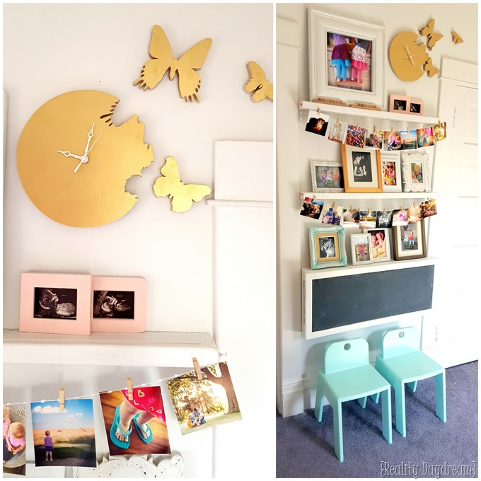 How to make your own butterfly 'cutout' clock... where it looks like the butterflies are flying out of the clock! Reality Daydream