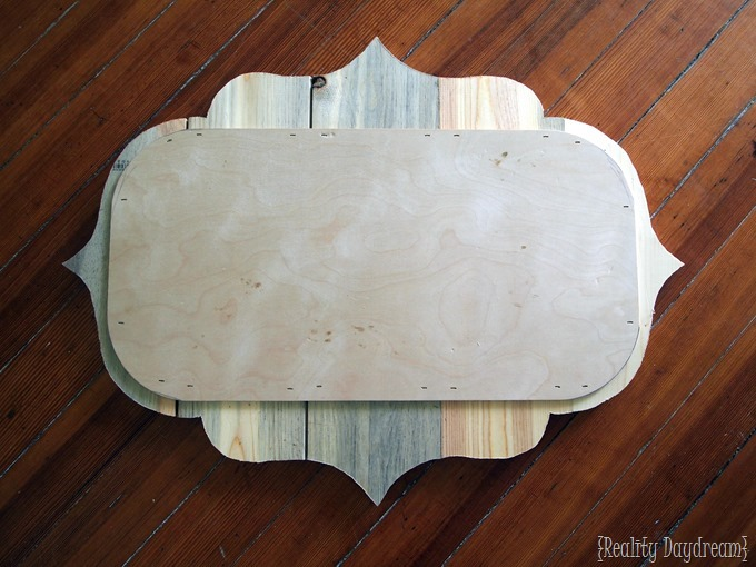 How to put together a 'barn board' plaque as a handpainted sign! {Reality Daydream}