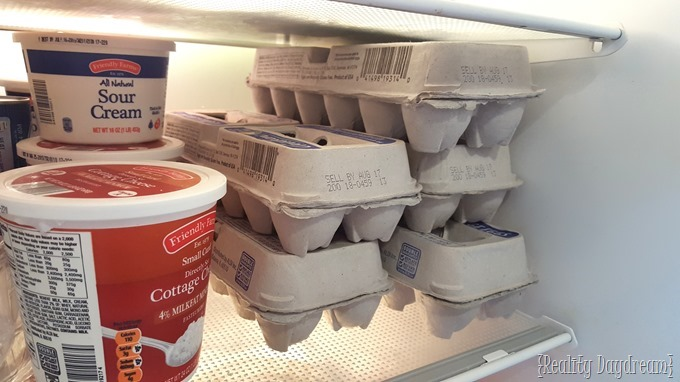 If you wipe down the shelves in your fridge once a week, it doesn't become such a HUGE ORDEAL! {Reality Daydream}